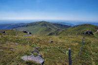 La crete du Puy Brunet au Puy de la Cede