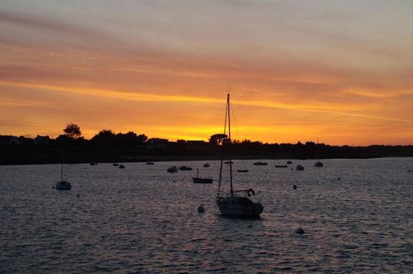 Coucher de soleil sur la Baie de Quiberon à Port Haliguen