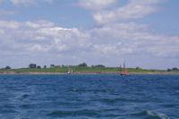 Des vieux greement devant l'Ile Godec dans le Golfe du Morbihan