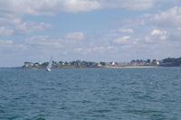 Toulassais, on appercoit le phare de Port Navalo