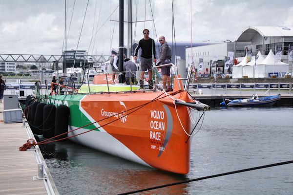 Groupama, le bateau de Frank Cammas, vainqueur de la Volvo Ocean Race 2011-2012