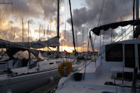 Au port du Kernevel au petit matin