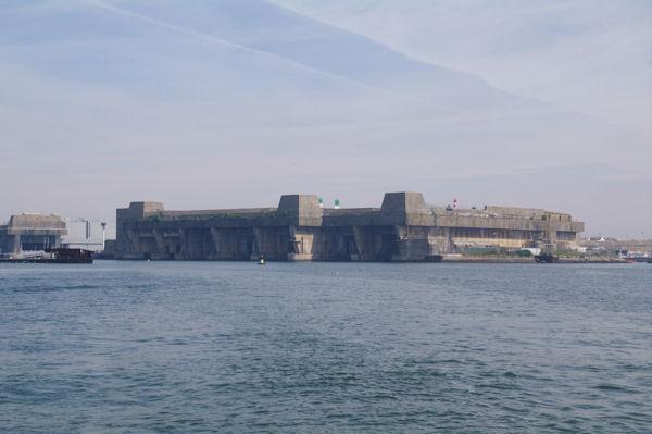 L_ancienne base de sous marin sur la Pointe de Keroman à Lorient
