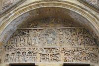 Le tympan du Jugement Dernier de l&#39eglise abbatiale de Conques