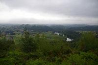 Sur le GR65 vers Thabor, le Lot et au fond, Flagnac