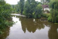 Les eaux brunes du Cele a La Mouline