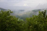 Brumes dans la vallee du Cele depuis La Bouyssiere