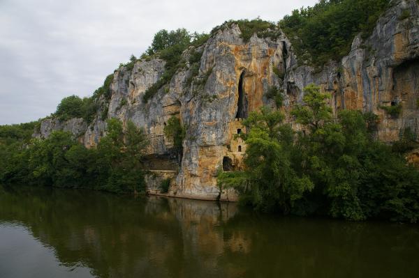 Les fortifications du Défilé des Anglais vers Bouziès