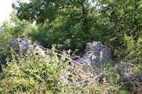 Une Gariote ruinee sur la crete de Cayrol