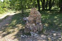 A Gateau sans le Bois de Lagarrigue sur le GR65