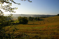 Brumes matinales vers Les Pelenes