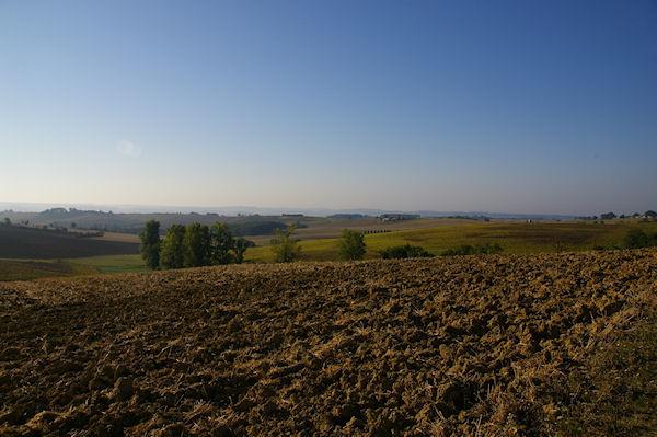 Paysage Gersois vers la vallée de Montret