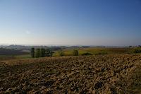 Paysage Gersois vers la vallee de Montret