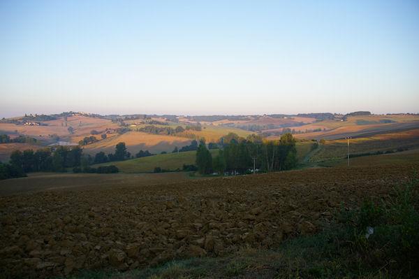 Paysage Gersois au petit matin vers Coilong