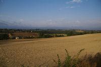 La campagne sur le GR65, en bas, Mourelot