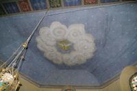 Joli plafond peint dans l'eglise de Lanne - Soubiran
