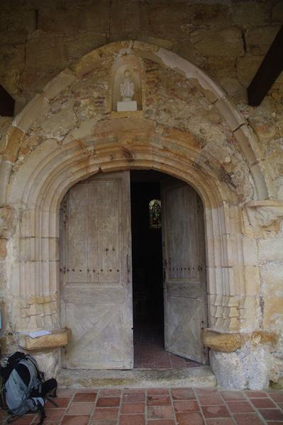 La porte de l_église de Lanne - Soubiran