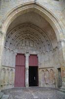 Le typan de l'eglise Sainte-Quitterie a Aire sur l'Adour