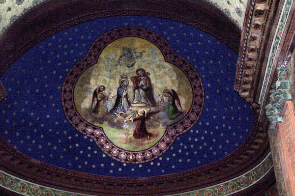 Magnifiques plafonds peints dans la cathédrale Saint-Jean-Baptiste à Aire sur l_Adour