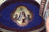 Magnifiques plafonds peints dans la cathedrale Saint-Jean-Baptiste a Aire sur l'Adour