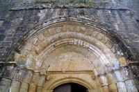 Le tympan de la Collegiale Saint-Barthelemy de Pimbo