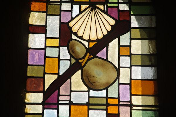 Un vitrail de l_église de Louvigny