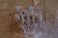 Sculpture dans l'abbaye Benedictine de Larreule