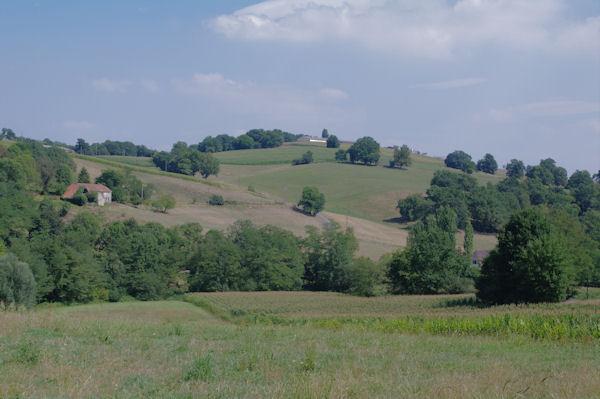 Le vallon du ruisseau de Soularau depuis Larqué