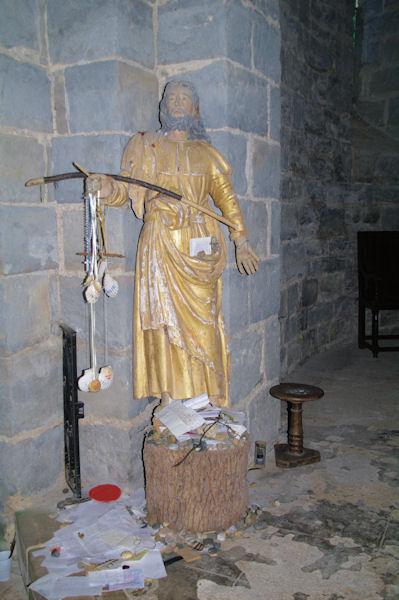 St Jacques dans l_église de Sauvelade