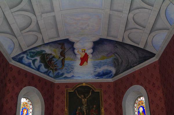 Plafond petit dans l_église de Castelnau Camblong