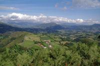 La vallee de la Nive au dessus de Hunto