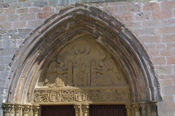 La porte de l'église de Santa María la Real