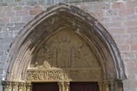 La porte de l'eglise de Santa María la Real