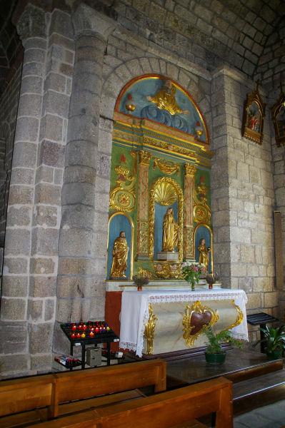 Dans l'église de Nasbinals