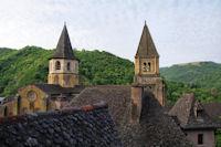 Les clochers de l'Abbatiale Ste Foy de Conques