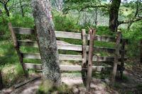 Barriere hors sac... dans la descente vers le ruisseau du Saltz
