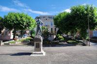 La statue du Mineur, temoignage du passer minier de la region