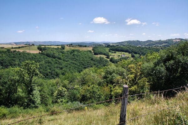 Le vallon du Riou Viou depuis Nespoulières