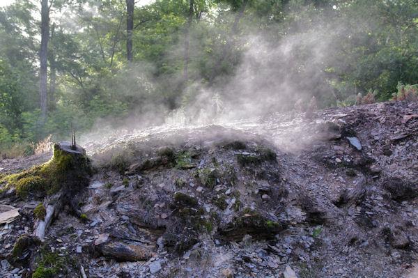 Fumeroles sur les hauts de Cransac
