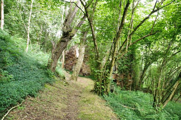 Des ruines vers La Buégne