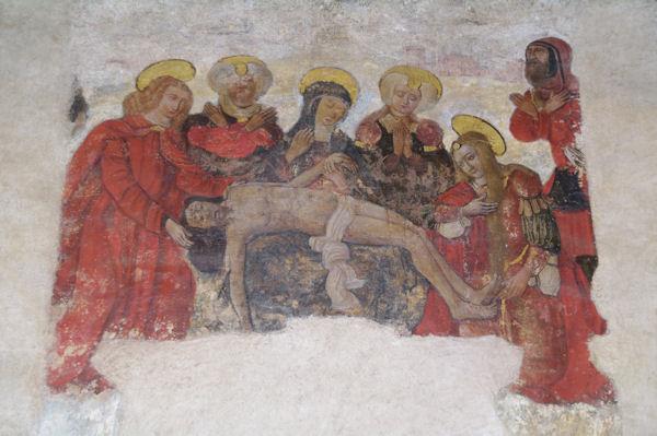 Peinture dans l_église Notre Dame du Bourg à Rabastens