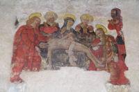 Peinture dans l'eglise Notre Dame du Bourg a Rabastens