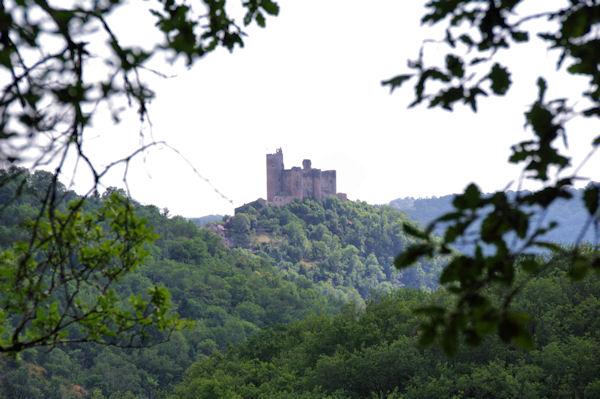 Le chateau de Najac depuis le Muret