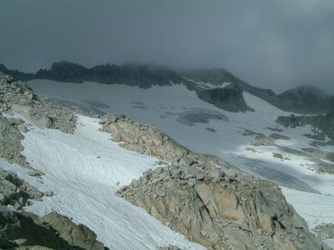 Vue sur le glacier de la Maladeta