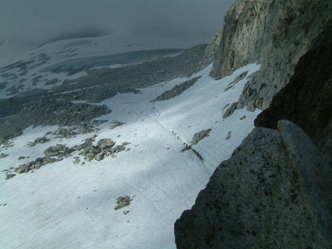 Vue du glacier de l&#39Aneto depuis le portillon supérieur
