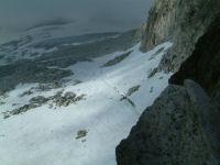 Vue du glacier de l'Aneto depuis le portillon superieur