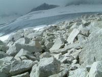 Le glacier de l'Aneto et sa glace vive