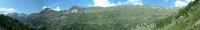 Panorama vers le Nord du refuge de la Rencluse