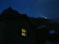 Lever de lune sur la crete du Pic de la Rencluse