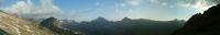 Panorama sur la crete frontiere